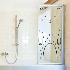 haru the happy bear door decal / made of sundays