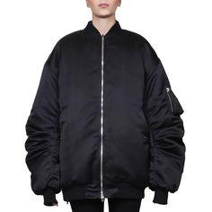 Faith Connexion Nylon bomber (€1.165) ❤ liked on Polyvore featuring outerwear, jackets, black, nylon jacket, faith connexion jacket, nylon bomber jacket, bomber style jacket and long sleeve jacket
