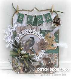 Jenine's Card Ideas: Woodland Winter - Share the Love Card Tags, Gift Tags, Xmas Theme, Shabby Chic Cards, Christmas Crafts, Christmas Ornaments, Marianne Design, Stencil Diy, Diy Cards