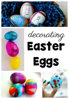 So many Easter egg activities for kids! These will be perfect for preschoolers or elementary aged kids. Love that there are math, literacy, science, and sensory activities for using Easter eggs. And ideas for decorating eggs! Easter Activities For Preschool, Early Learning Activities, Creative Activities For Kids, Creative Play, Sensory Activities, Easy Arts And Crafts, Crafts For Boys, Toddler Crafts, Math Literacy