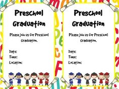 Pre k graduation invitation preschool graduation school and pre k graduation certificates invitations and memory book filmwisefo