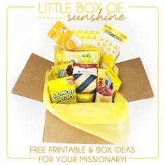 Little Box of Sunshine Ideas for Missionary Care packages. shopringmasters.com