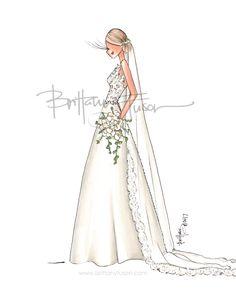 summer wedding   wedding planning   bridal illustration   wedding gifts   unique wedding gift ideas   Brittany Fuson