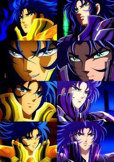 Gemini Saga e Kanon Thundercats, Geeks, Golden Warriors, Greatest Villains, Fanart, Animes Wallpapers, Anime Comics, Canvas, Japanese Art