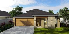for Narrow Lot and Rear View 2 Storey Double Storey Home Designs in Mandurah | Bunbury | Perth | Busselton | Southwest | The Port Bouvard External Door Handles, External Doors, Pivot Doors, Entry Doors, Stone Bench, Storey Homes, Shower Screen, New Home Builders, Concrete Floors
