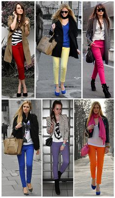 How to wear colored jeans..