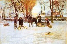 Art Now and Then: Władysław Podkowiński French Impressionist Painters, Subic, Seasons, Winter, Illustration, Painting, Artists, Google Search, Czech Republic