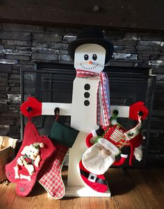 A personal favorite from my Etsy shop https://www.etsy.com/ca/listing/462009914/snowman-christmas-stocking-stand