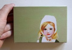 Doll / Tiny canvas print par tushtush sur Etsy, $20.00