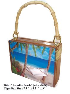 The most popular handbag cigar box purses in Florida. Made with original cigar boxes and embellished with beautiful art. No two purses are the same. These handmade cigar box purses have bamboo, plastic or wood handles. Cigar Box Purse, Cigar Boxes, Top Cigars, Felted Soap, Cuban Art, Popular Handbags, Buy 1, Box Art, Best Gifts