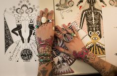 Tattoo Art ~  Minka Sicklinger – New York
