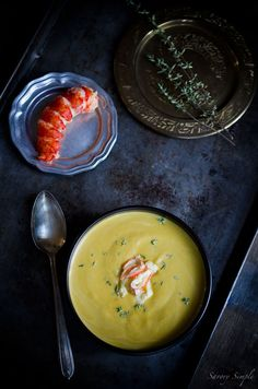 Butternut Lobster Bisque - a seasonal, gourmet soup that's easy to prepare at home!