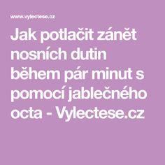 Jak potlačit zánět nosních dutin během pár minut s pomocí jablečného octa - Vylectese.cz Chemistry