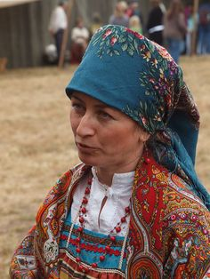 Fort Ross: Elena wearing Traditional Russian Costume by Franco Folini, via Flickr