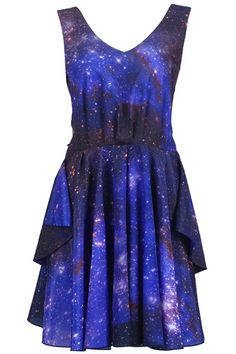 Galaxy Print Dress...sparkles....with the right accessories this would make a great outfit