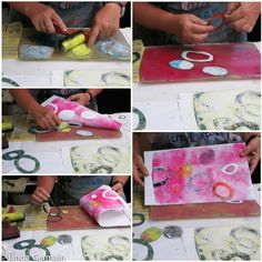 printmaking without a press with Linda Germain: Inks, stencils and Understanding the Gelatin Plate