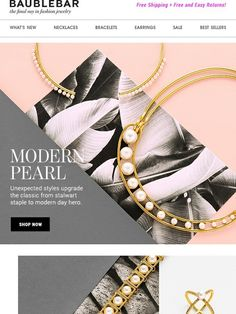 lol my email showed up on pinterest//We Gave The Classic Pearl A Modern Makeover - BaubleBar