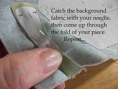 Hand Applique {tutorial} needle turn applique