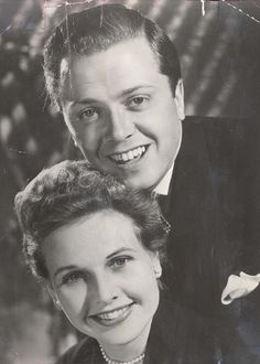 Richard Attenborough and Sheila Sim. Beautiful young couple in The Mousetrap