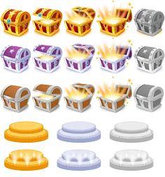 宝箱(259图)_@Martin角蛙仔收集_花瓣 Treasure Boxes, Treasure Chest, Cute Games, National Treasure, Game Ui, Concept, Icons, Activities, Image