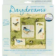 "Dimensions Daydreams Birds & Swirls Counted Cross Stitch Kit-8""X8"""