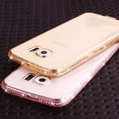 Soft Transparent Diamond Phone Cases For Samsung Galaxy S6 S6 Edge S7 S7 Edge/ A5 A7 A8/J5 J7 Ultra Slim TPU Gel Cell Back Cover * This is an AliExpress affiliate pin.  Find similar products on AliExpress website by clicking the image