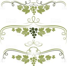 Grape ornament royalty-free stock vector art