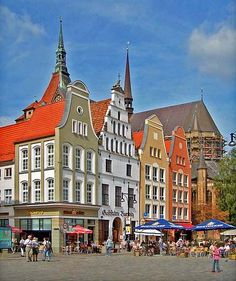 Market Place. Fun place... Rostock Germany