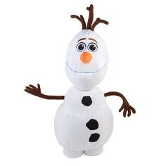 Add magic to any bedroom with Disney's Frozen Olaf Pillow, shaped just like the friendly snowman!