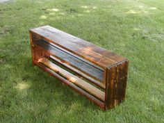 Western Larch Farm House Bench crafted by L. Design Reclaimed.