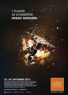 Trondheim Chamber Music Festival - Poster Design by Helmet Films & Visual Effects, via Behance