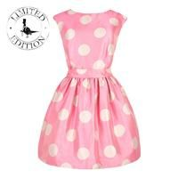 Retro pink polka dot dress with pink bag and heels Pink Love, Pretty In Pink, Jack Wills Dresses, Rosa Style, Skirt Mini, Everything Pink, Pink Polka Dots, Pink Dress, Dot Dress