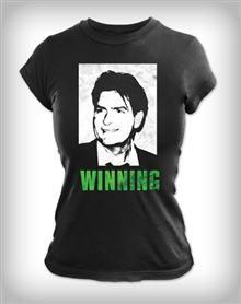 Charlie Sheen 'Winning' Junior Fitted Tee