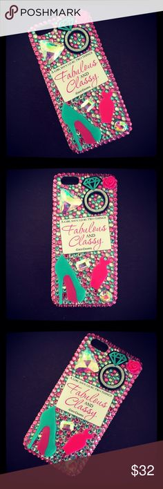 iPhone 6/6s Case This case fits an iPhone 6/6s. Cheaper on my etsy shop, only $25! www.BedazzledBliss33.etsy.com Accessories Phone Cases