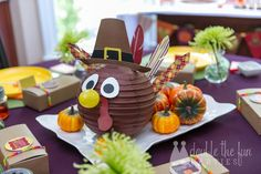Thanksgiving Dessert Table and Party by Double Fun The Parties by Love The Day