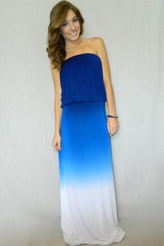 Attractive Crashing Waves Maxi Dress for ladies