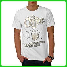 Drink Coffee Stupid Food Men XXXXXL T-shirt | Wellcoda - Food and drink shirts (*Amazon Partner-Link)