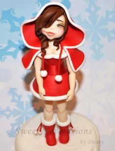 """ Natalina "" my Christmas Lady - Cake by Domy"