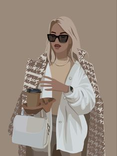Girl Illustration Art, Digital Illustration, Illustrations, Girl Cartoon, Cartoon Art, Arte Fashion, Digital Art Girl, Cute Cartoon Wallpapers, Art Drawings
