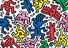 Keith Haring was best known for his graffiti-inspired drawings, which were first made in subway stations. Description from madisonmodernblog.com. I searched for this on bing.com/images