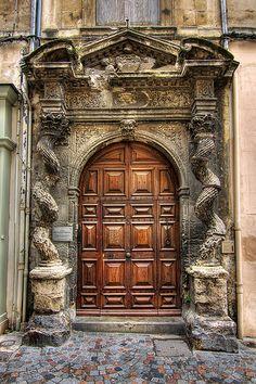 ♅ Detailed Doors to Drool Over ♅ art photographs of door knockers, hardware & portals - Baroque doorway Portal, Knobs And Knockers, Door Knobs, Medieval Door, Art Du Monde, Chula, Unique Doors, Entrance Gates, Old Doors