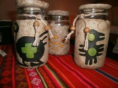 Yoa Myr's media content and analytics Burlap Mason Jars, Mason Jar Centerpieces, Clay Crafts, Diy And Crafts, Mundo Hippie, Pasta Piedra, Mandala Painting, Paperclay, Air Dry Clay