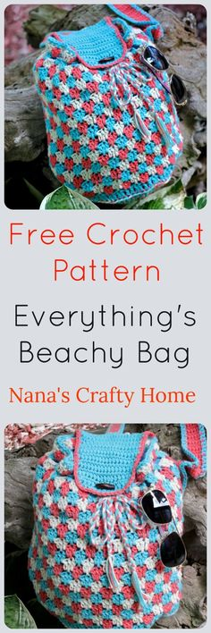 Everything's Beachy Bag Free Crochet Pattern a Crossbody Sling Bag - Everything's Beachy Bag Free Crochet Pattern made with I Love This Cotton! yarn sling crossbody bag Source by Crochet Beach Bags, Free Crochet Bag, Crochet Shell Stitch, Diy Crochet, Crochet Bags, Crochet Ideas, Cotton Crochet, Crochet Handbags, Crochet Purses