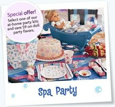 American Girl Spa Party