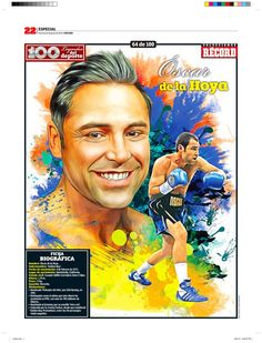 Oscar de la Hoya 100 Leyendas del Deporte / 100 Sports Legends by Jesús R. Sánchez, via Behance
