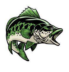 Big largemouth bass fish vector Eagle Vector, Fish Vector, Dog Vector, Vector Art, Cartoon Present, Turkey Cartoon, Fish Sketch, How To Draw Santa, Eagle Mascot