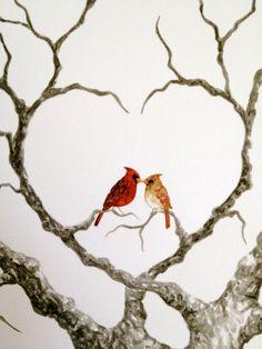 MEDIUM HEART OAK Wedding Guest book tree 20x16 by LastingKeepsakes, $95.00