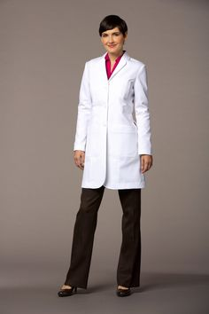 Callia Slim Fit Lab Coat - Front