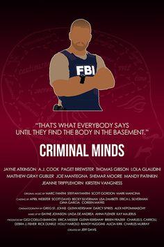 Criminal Minds - Morgan poster by britishindie http://society6.com/britishindie/Criminal-Minds-Morgan_Print