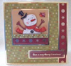 Jolly Snowman Christmas Card